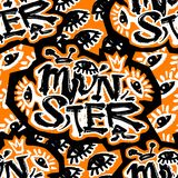 Monsterfunky seamless rough grunge pattern, modern design template. royalty free stock photography