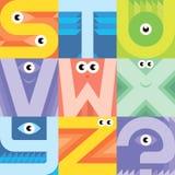 Monsterguß S T U V W X-Yz Stockfotos