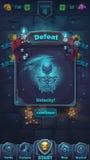Monsterkampf GUI-Niederlagenspielfeld lizenzfreie abbildung