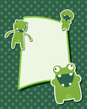 Monsterkarte Lizenzfreies Stockfoto