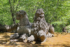 Monsterpark in Bomarzo, Viterbo - Italië Royalty-vrije Stock Foto's