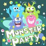 Monsterparteiplakat Lizenzfreie Stockfotos