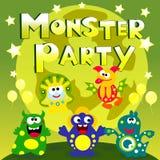 Monsterparteiplakat Lizenzfreies Stockbild