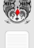 Monsterpersönlichkeitsmuster mit Platz für Ihren Text Lizenzfreies Stockfoto