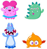 Monsters. Set of Cute little monsters Stock Photo