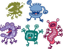 Monsters. A group of monsters are trying to scare you Royalty Free Stock Photo