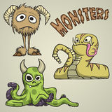 Monsters royalty free illustration