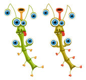 Monsters. A raster illustration of the stick insect monsters for Halloween or other events Royalty Free Stock Photo