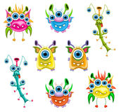 Monsters. A raster illustration of monsters for Halloween or other events Royalty Free Stock Photography