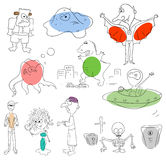 Monsters. Vector monster collection on a white background Royalty Free Stock Images