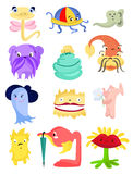 Monsters. Set of cute little monsters Stock Images