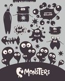 Monsters. Set of cartoon monsters. Vector illustration Stock Images