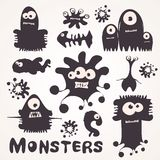 Monsters. Set of cartoon monsters. Vector illustration Stock Image