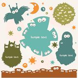 Monsters. Set of Colored Monsters. Vector illustration Stock Images