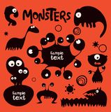 Monsters. Cute doodle monsters. Vector illustration Stock Image