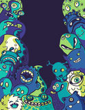 Monsters and aliens royalty free illustration