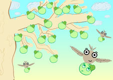 Monsters and apple-tree Royalty Free Stock Photography