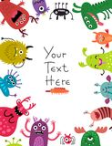 Monsters background for text. Funny monsters background for text Stock Photo