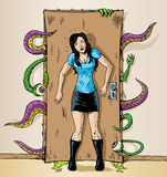 Monsters bij de deur Stock Fotografie
