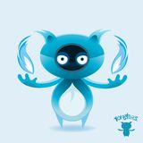 Monsters - Blue Flamed Rockfox Royalty Free Stock Photo