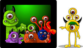 Monsters cartoon collection Stock Images