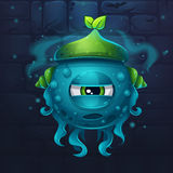 Monsters cartoon slug nature Royalty Free Stock Image