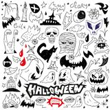 Halloween monsters - doodles Royalty Free Stock Photo