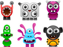 Monsters collection 1 Stock Photo