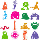 Monsters_color Royalty Free Stock Image
