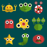 Monsters and creatures stock illustration