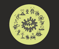 Monsters in de volle maan royalty-vrije illustratie