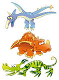 Monsters Dinosaurs. Vector image, software: Illustrator Stock Image