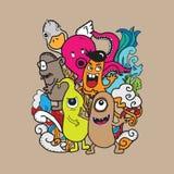 Monsters en vreemdelingen Stock Afbeeldingen