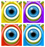 Monsters eyes. A raster illustration of monsters eyes for Halloween or other events Stock Photography