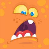 Monsters face cartoon creature avatar illustration vector stock. Royalty Free Stock Photography