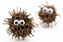 Monsters with googly eyes on white background Royalty Free Stock Photo
