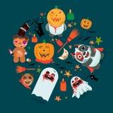 Monsters halloween illustration Stock Photo