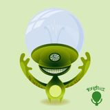 Monsters - Hypnotic Green Alien Stock Photography