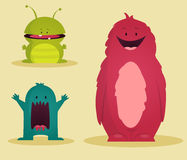 Monsters, illustration. Cute funny Monsters,  illustration Royalty Free Stock Photography