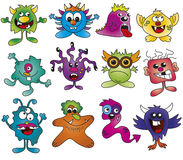 Monsters. Illustration of funny monsters isolated Stock Photos