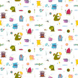 Monsters for Kids Design seamless pattern background Royalty Free Stock Photos