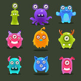 Monsters Lovely Vector Illustration Stock Photography