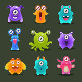 Monsters Lovely Vector Illustration Royalty Free Stock Photo