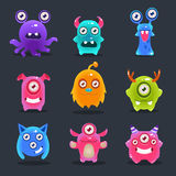 Monsters Lovely Vector Illustration Royalty Free Stock Images