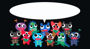 Monsters with a message Stock Photo