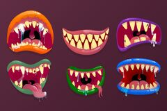 Free Monsters Mouths. Royalty Free Stock Image - 177340966