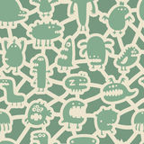 Monsters pattern Stock Image