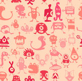 Monsters pattern Royalty Free Stock Photography
