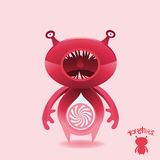 Monsters - Pink Candy Cruncher stock illustration