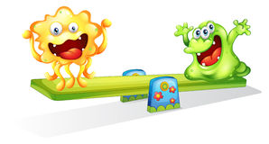 Monsters playing Stock Image